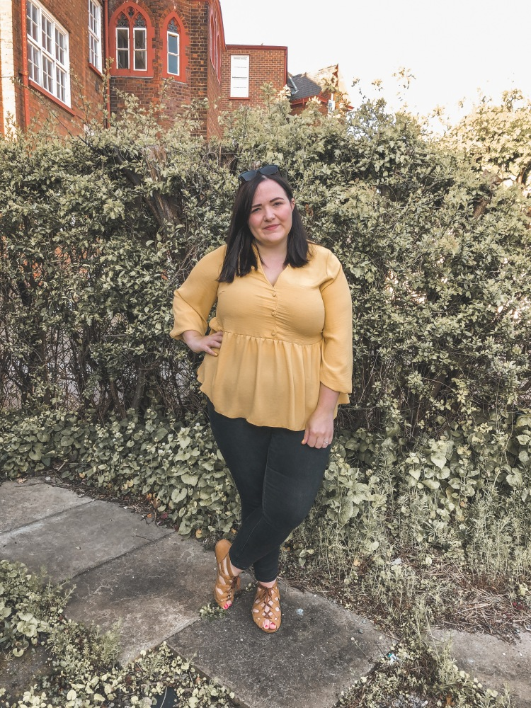 Lizzie Florence Plus Size Yellow Top